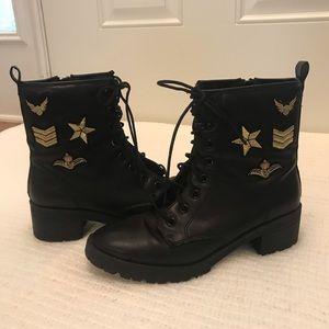 Madden Girl Eloise Combat Boots